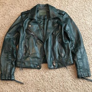 Blank NYC Moto jacket- Forest green